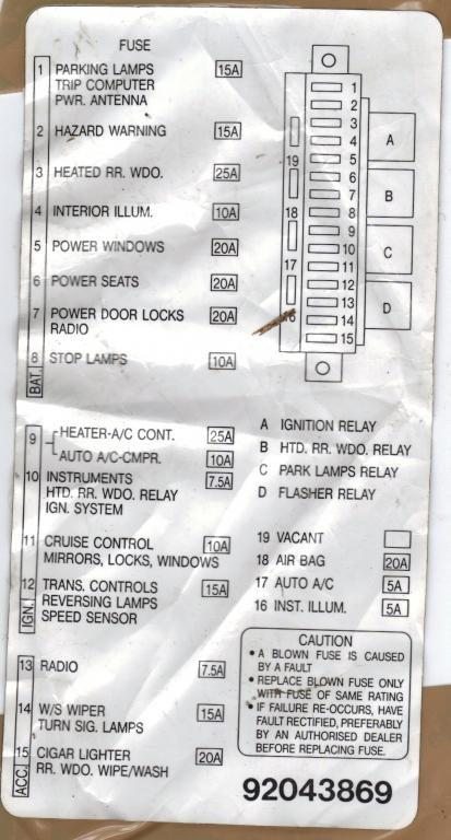 Fuse Box For Vt Commodore : Vx commodore fuse box diagram wiring images