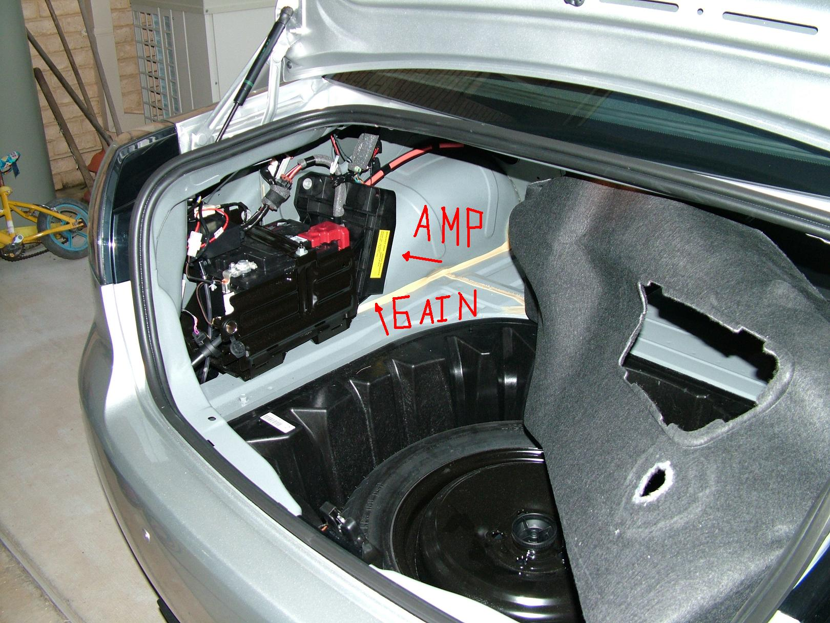 how to connect car amp in house