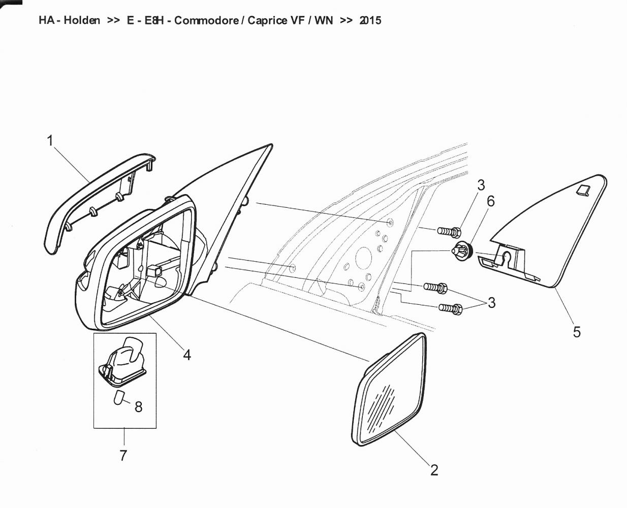 Holden Caprice Wing Mirror Assembly.jpg