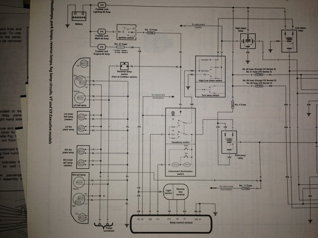 Vt Wiring Diagram Auto Electrical Commodore Central Locking Headlight Switch Choice Image