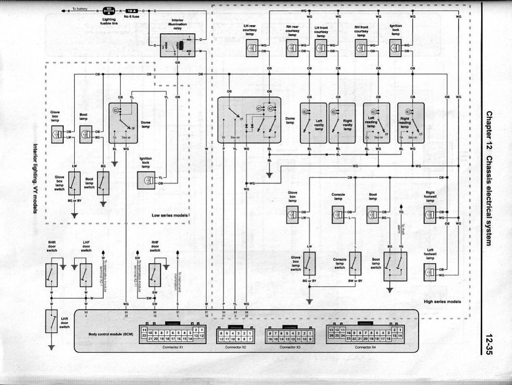 Vy commodore wiring diagram images