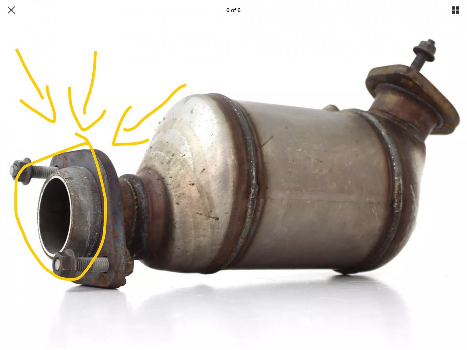 VE SV6 X-Force 2 25 cat back exhaust not fitting on cats