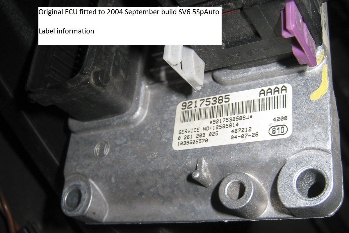 VZ commodore 2nd hand ECU fit straight in or need PIM to