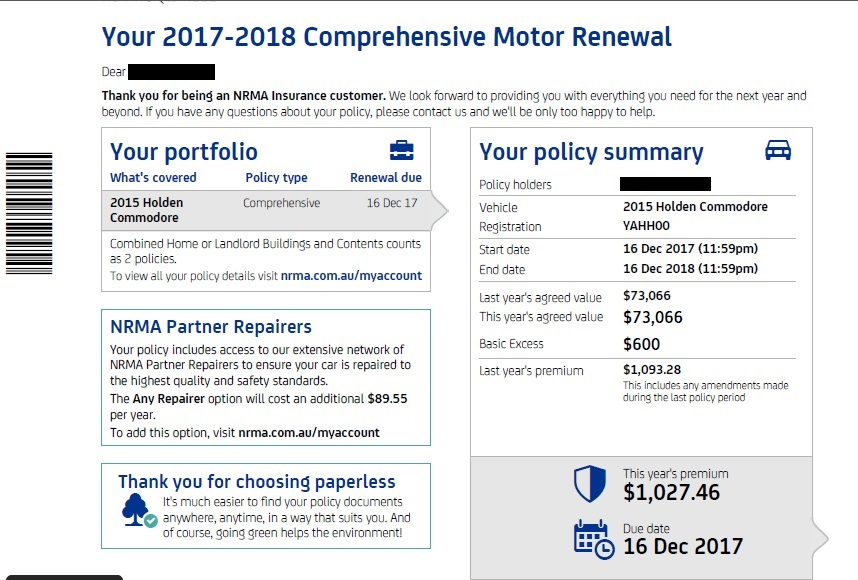 Insurance price with car upgrades | Page 2 | Just Commodores