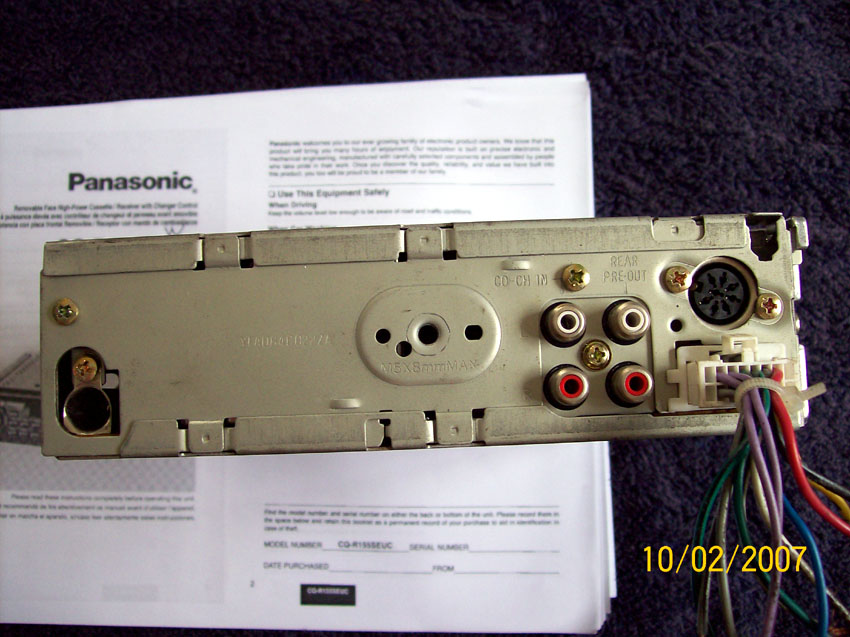 Captivating panasonic cassette player wiring diagram gallery best panasonic cq r155ew radio cassette cd changer just commodores swarovskicordoba
