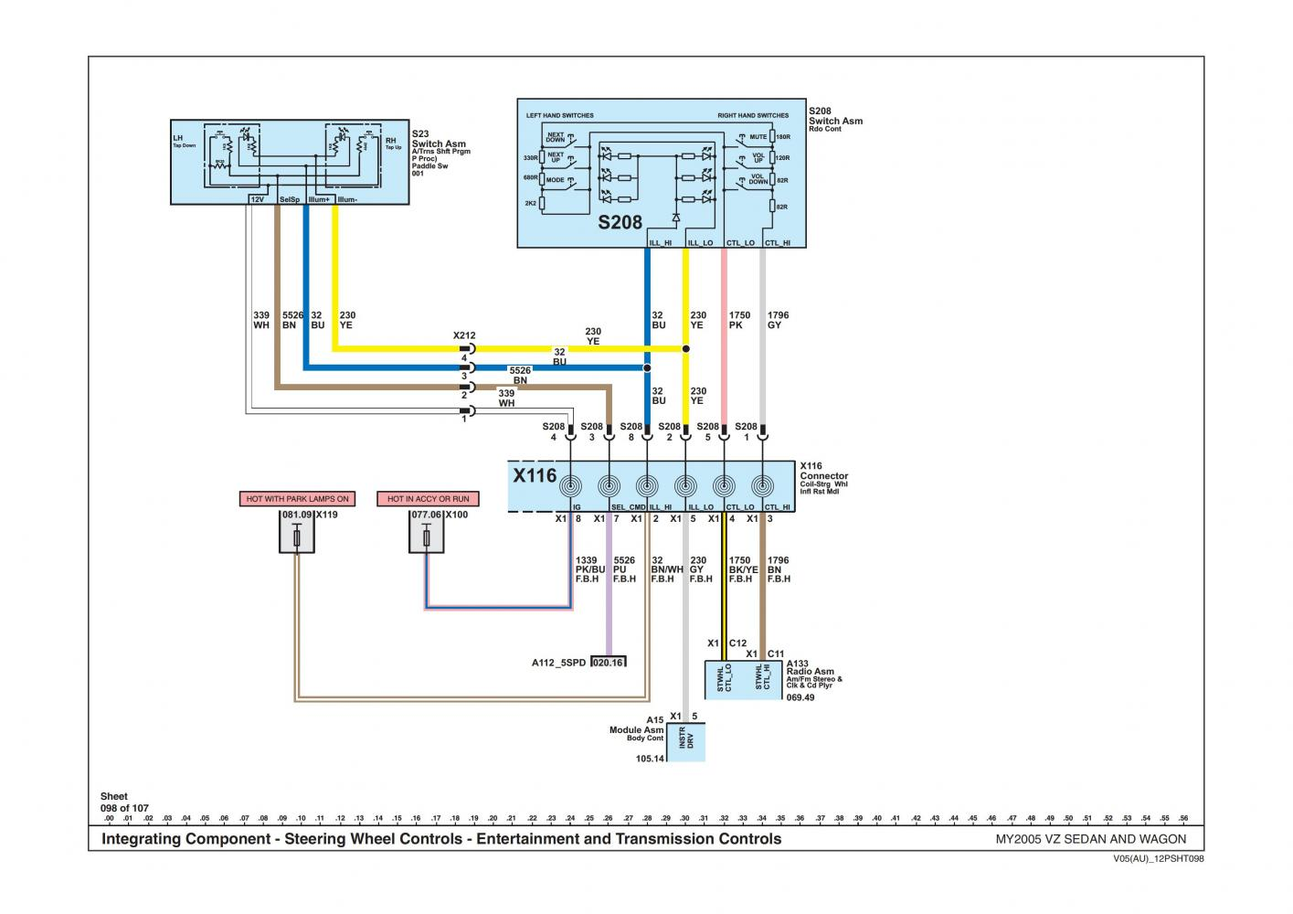 wanted wire diagram for head unit & steering wheel controls vx stereo wiring diagram at aneh.co
