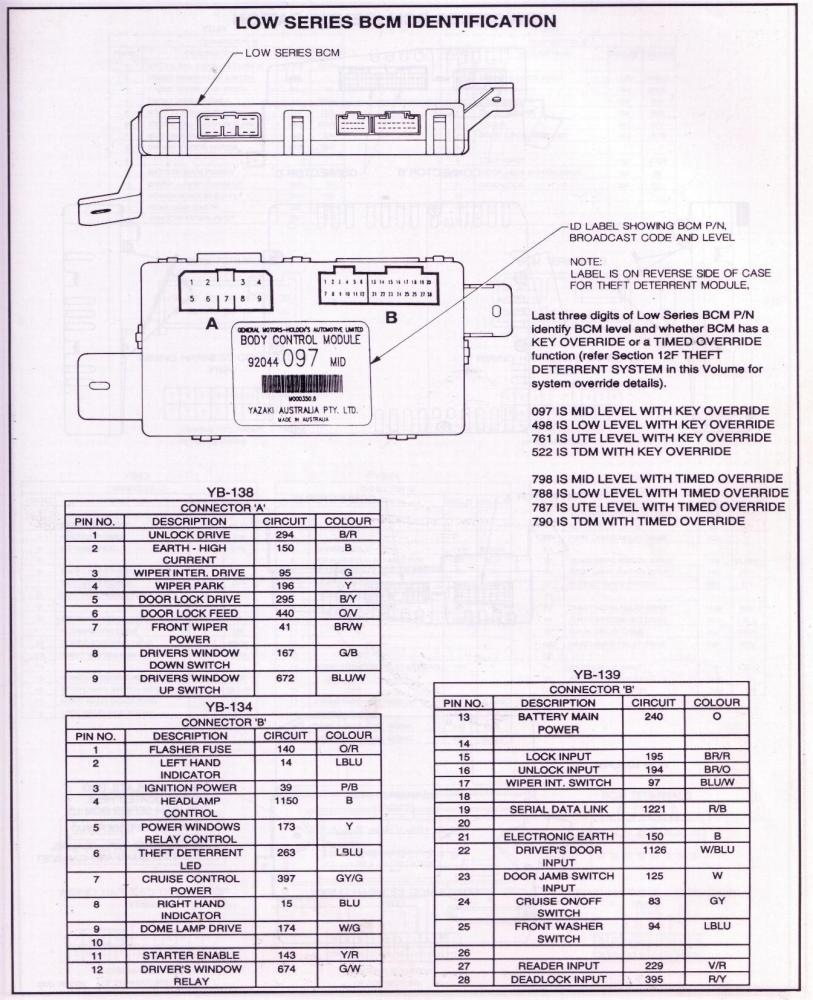 Central Locking Module Wiring Diagram Schematic Diagrams 2007 Sportster 883 Vt Commodore Trusted