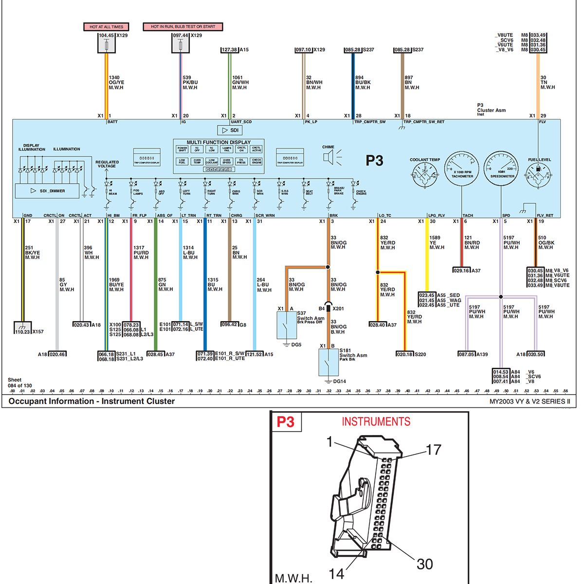 vy instrument cluster pinout wiring diagram just commodores  wiring diagram for instrument panel #4