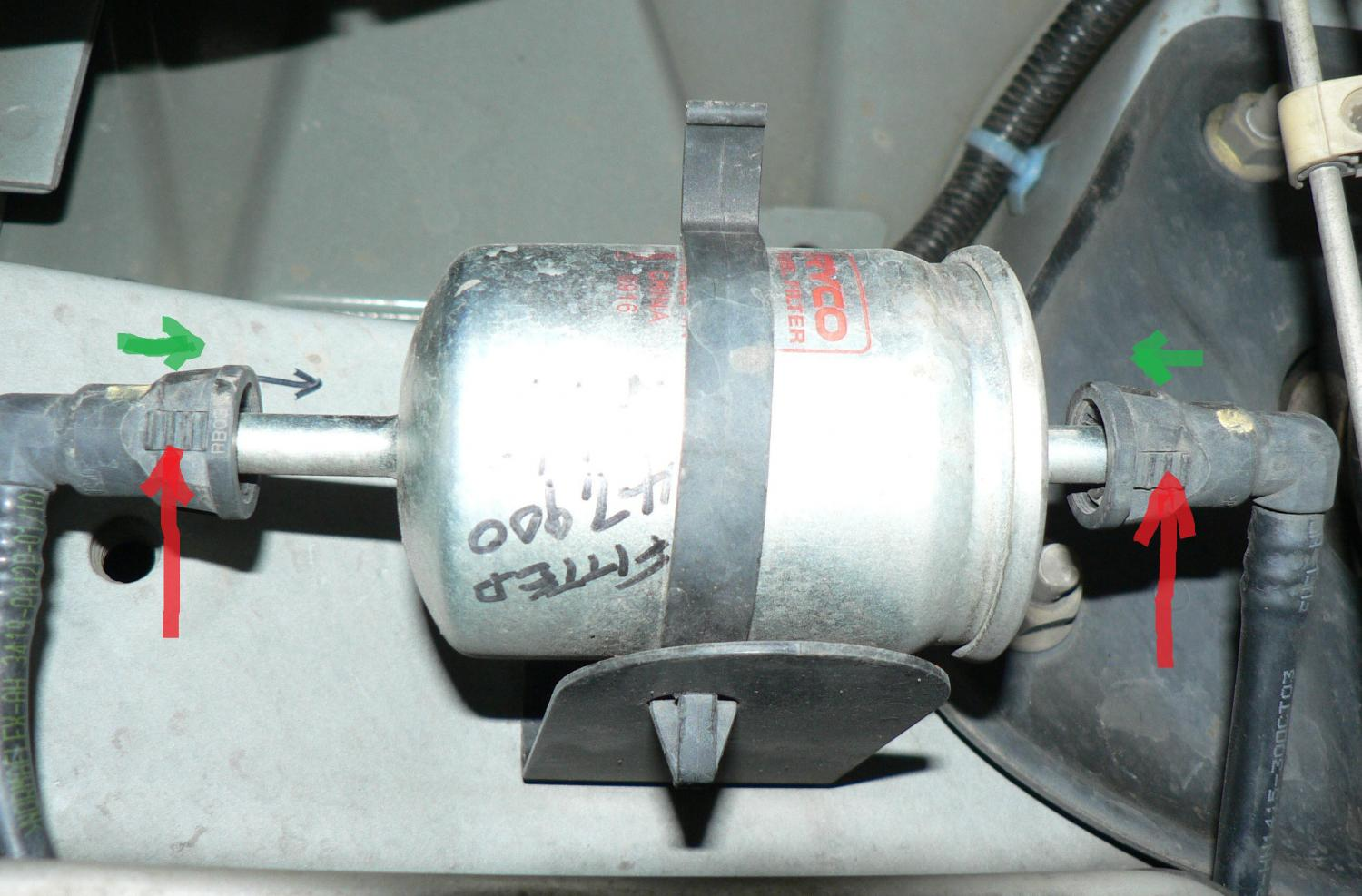 removing fuel filter?? just commodores Ford Fuel Filter vy fuel filter jpg